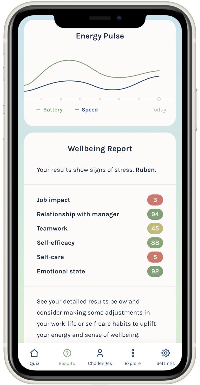 BeWell App Screenshot