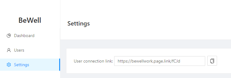 Bewell company connection link